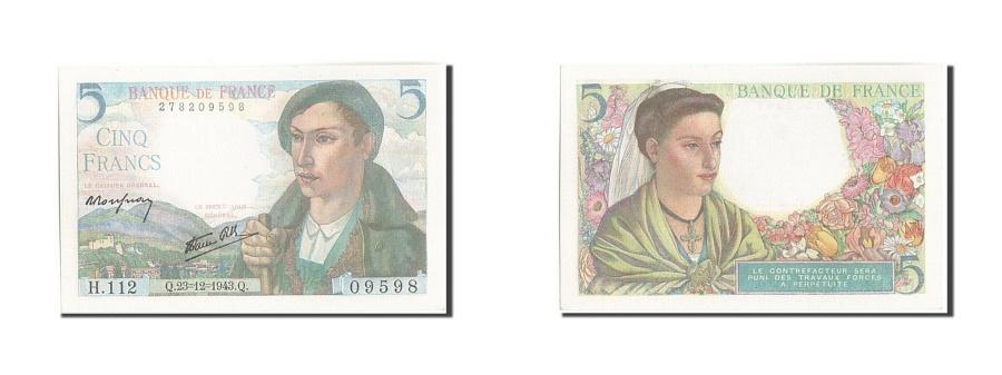 World Coins - France, 5 Francs, 5 F 1943-1947 ''Berger'', 1943, KM:98a, 1943-12-23, UNC(65-...