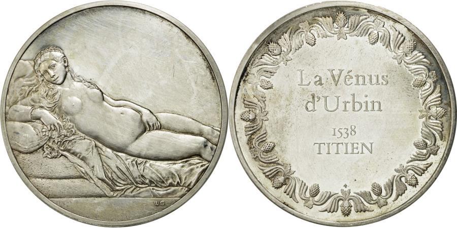 World Coins - France, Medal, La Vénus d'Urbin, Titien, , Silver