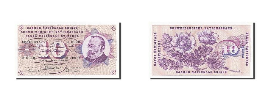 World Coins - Switzerland, 10 Franken, 1977, KM #45u, 1977-01-06, UNC(63), 101 O 016959