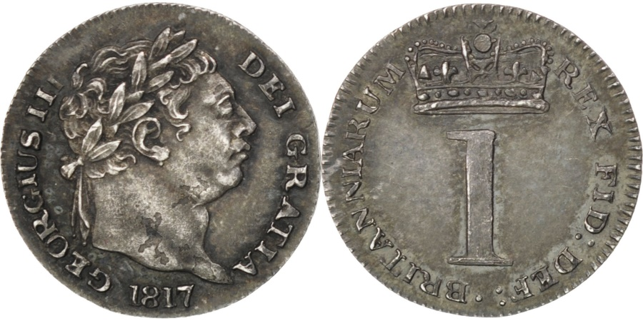 World Coins - Great Britain, Penny, 1817, KM #668, , Silver, 0.47