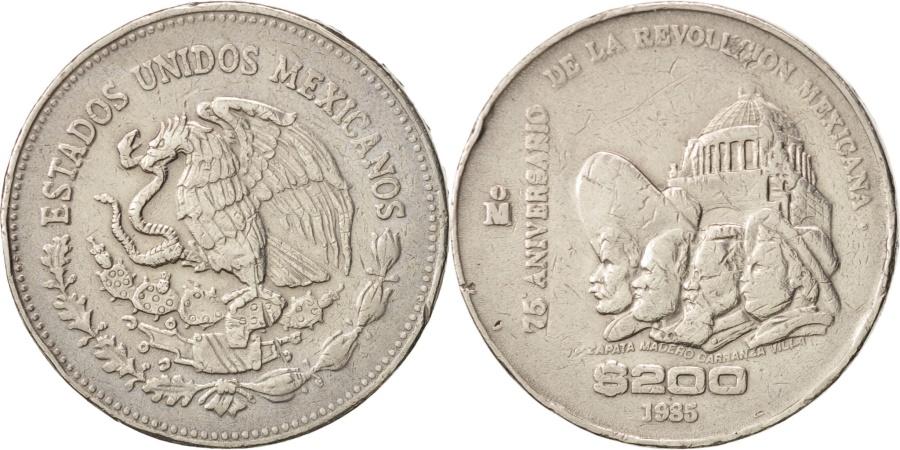 World Coins - Mexico, 200 Pesos, 1985, Mexico City, , Copper-nickel, KM:510