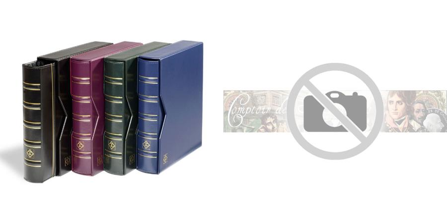World Coins - Album, Blue, with 10 pages, with slipcase, Leuchtturm:321845