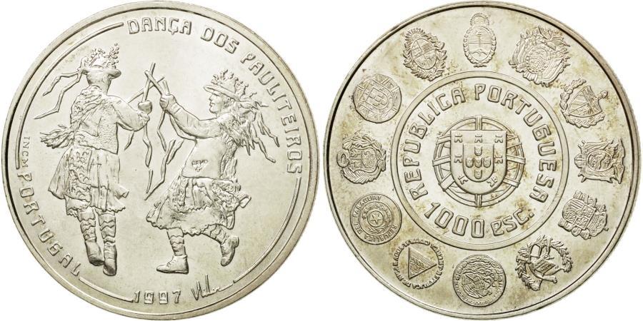 World Coins - Coin, Portugal, 1000 Escudos, 1997, , Silver, KM:704