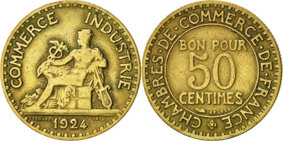France chambre de commerce 50 centimes 1924 paris - Chambre de commerce internationale paris ...
