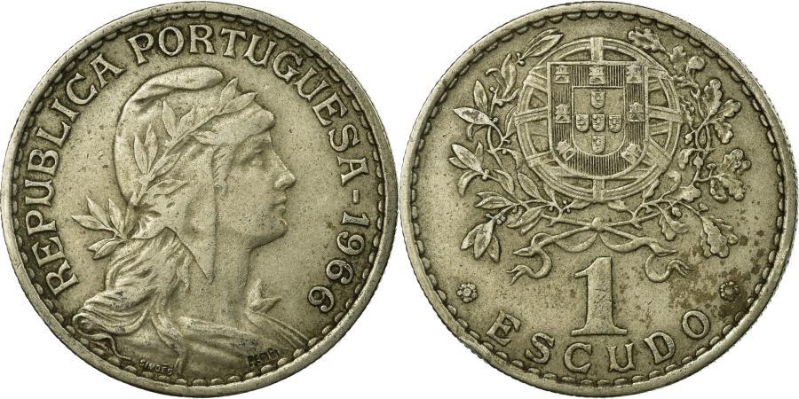 World Coins - Coin, Portugal, Escudo, 1966, , Copper-nickel, KM:578