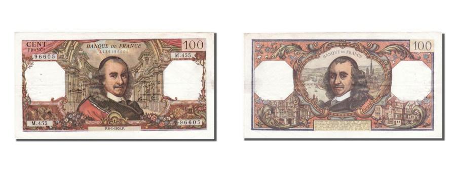 World Coins - France, 100 Francs, 100 F 1964-1979 ''Corneille'', 1970, KM #149c, 1970-01-08,..