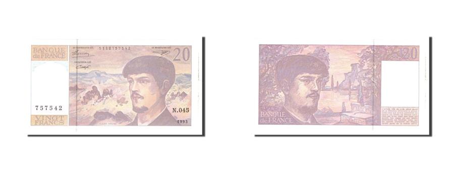 World Coins - France, 20 Francs, 1993, KM:151g, Undated, UNC(65-70), Fayette:66 bis.4