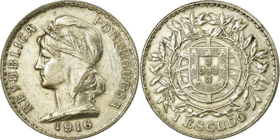 World Coins - Coin, Portugal, Escudo, 1916, , Silver, KM:564