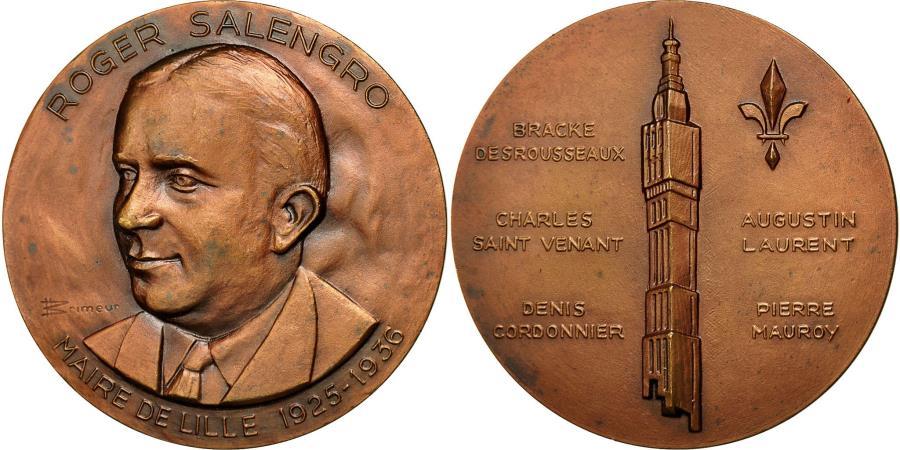 World Coins - France, Medal, Roger Salengro, Maire de Lille, Brimeur, , Bronze