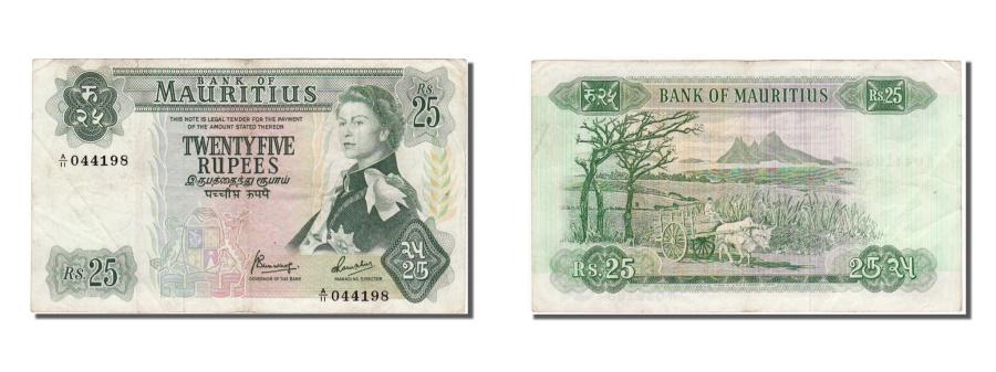 Mauritius, 25 Rupees, 1967, KM #32b, EF(40-45), 044198 ...