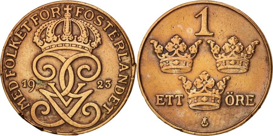 World Coins - Sweden, Gustaf V, Ore, 1923, , Bronze, KM:777.2