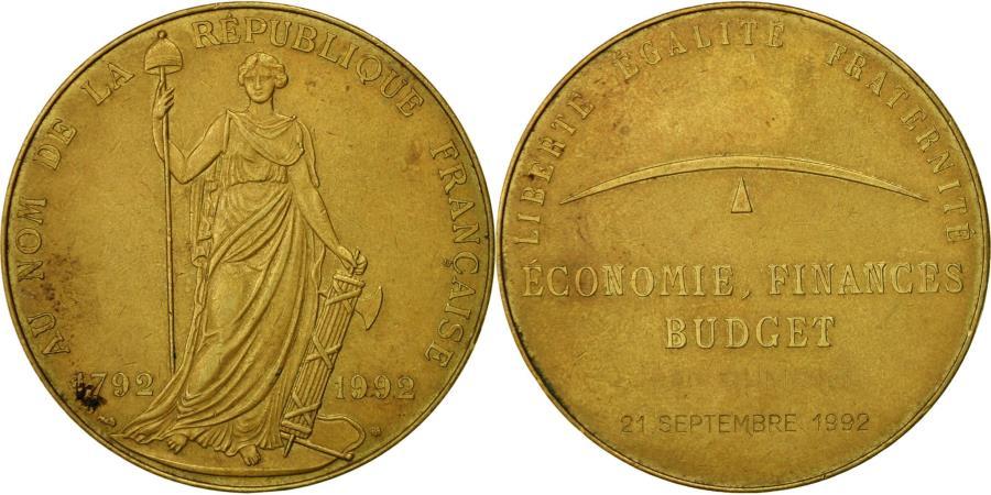 World Coins - France, Medal, Economie, Finances, Budget, 1992, , Copper
