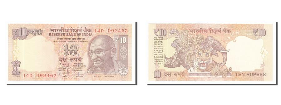 World Coins - India, 10 Rupees, 2011, KM #102a, UNC(65-70), J4D092462