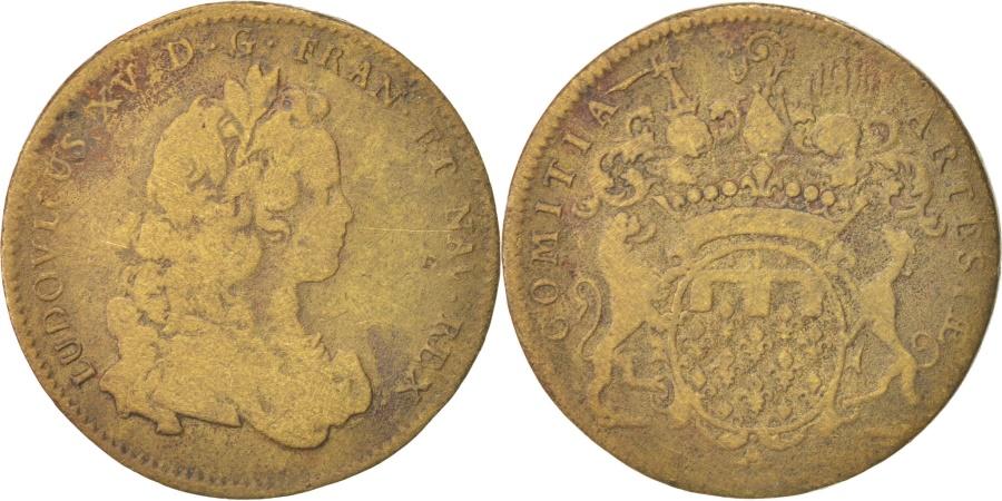World Coins - France, Royal, Louis XV, Artois, 31mm, Token