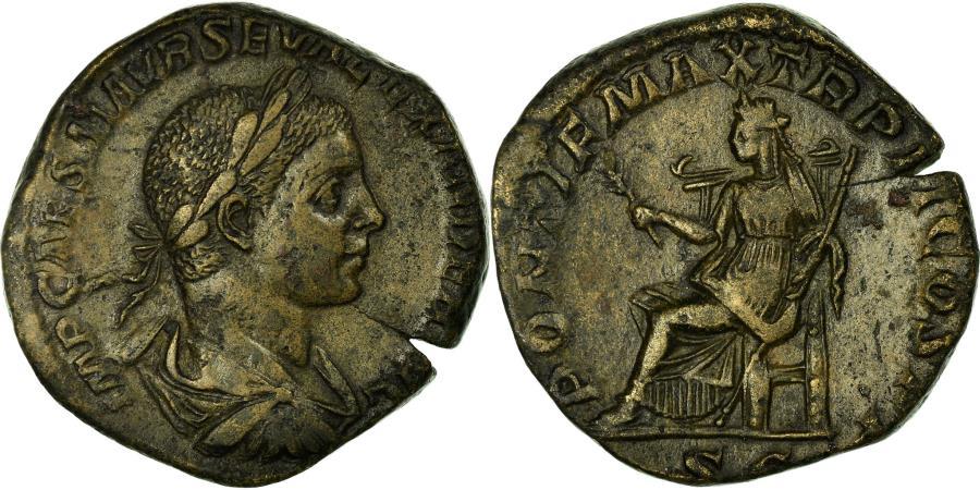 Ancient Coins - Coin, Alexander, Sestertius, Roma, AU(50-53), Bronze, Cohen:466