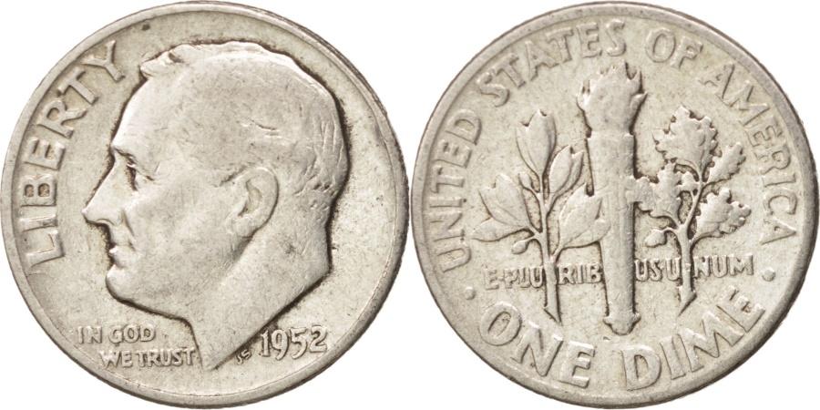 US Coins - United States, Roosevelt Dime, Dime, 1952, U.S. Mint, Denver, , Silver