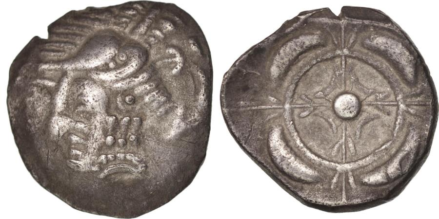World Coins - Southwestern Gaul, Drachm, Imitation of Rhodè, , Feugère&Py:IRH-43