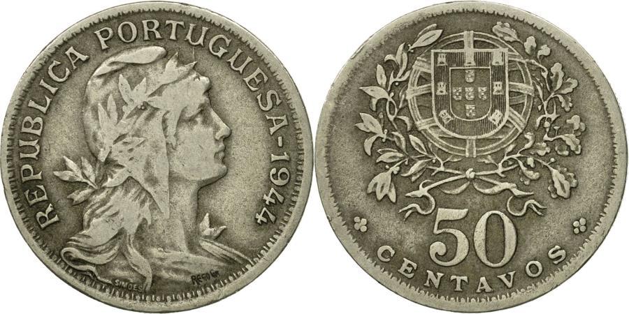 World Coins - Coin, Portugal, 50 Centavos, 1944, , Copper-nickel, KM:577