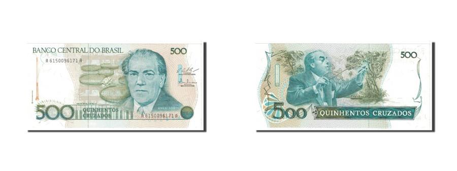 World Coins - Brazil, 500 Cruzados, 1987, KM:212c, Undated, UNC(65-70)