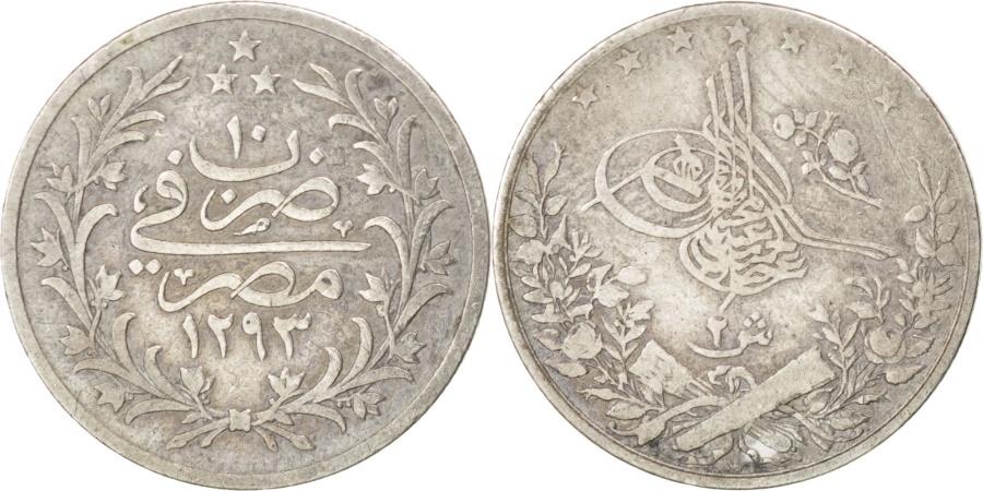 World Coins - EGYPT, 2 Qirsh, 1884, Misr, KM #293, , Silver, 19, 2.72