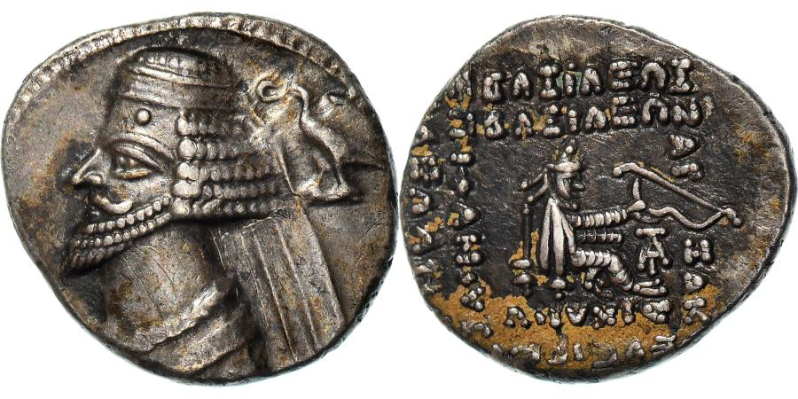 Ancient Coins - Coin, Parthia (Kingdom of), Phraates IV, Drachm, 38-2 BC, , Silver