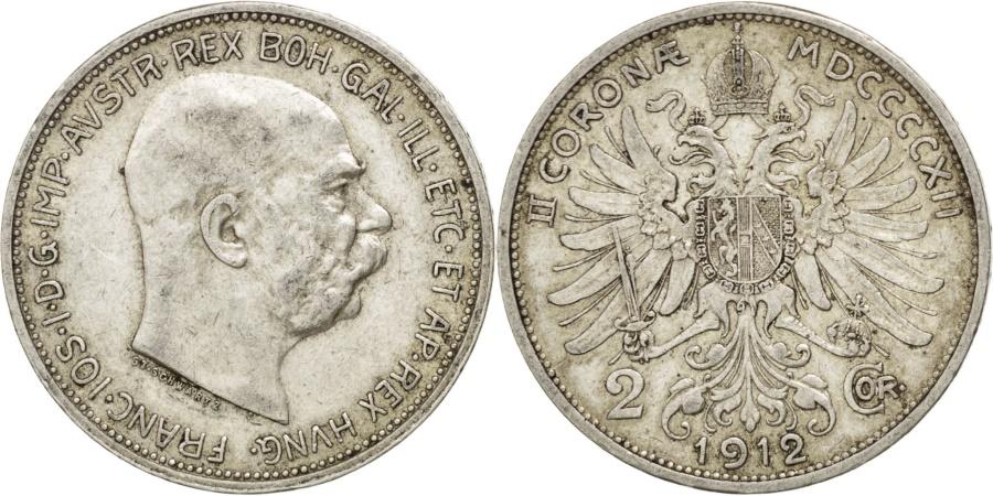 World Coins - AUSTRIA, 2 Corona, 1912, KM #2821, , Silver, 27, 9.85