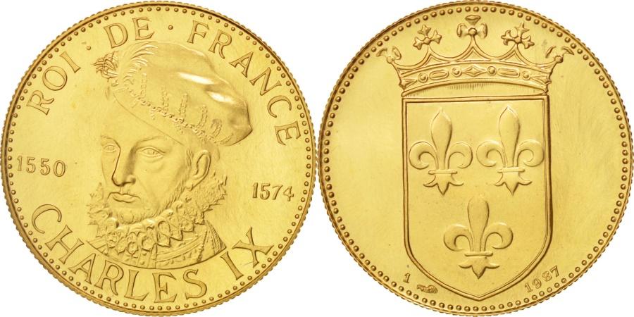 World Coins - France, Medal, Roi de France, Charles IX, History, , Gold