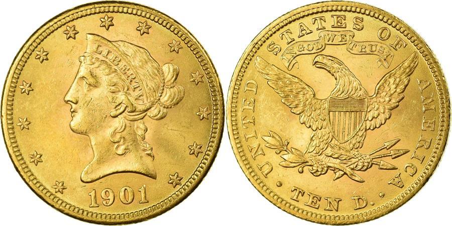US Coins - Coin, United States, Coronet Head, $10, Eagle, 1901, U.S. Mint, Philadelphia