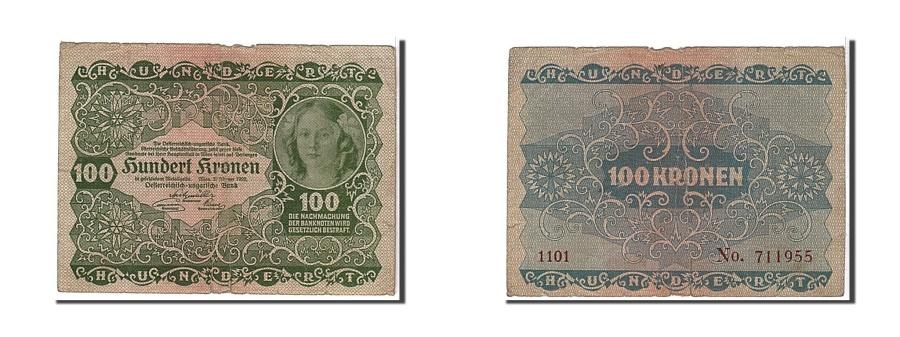 World Coins - Austria, 100 Kronen, 1922, KM #77, VF(20-25), 1101711955