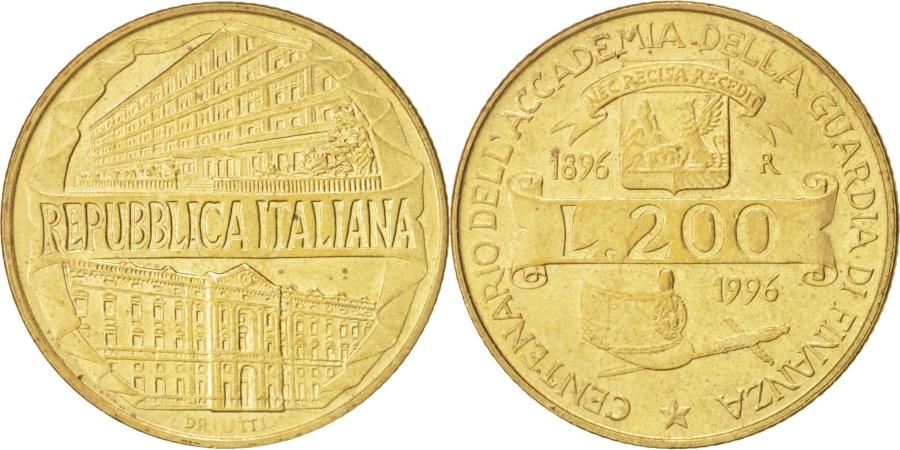 World Coins - Italy, 200 Lire, 1996, Rome, Aluminum-Bronze, KM:184