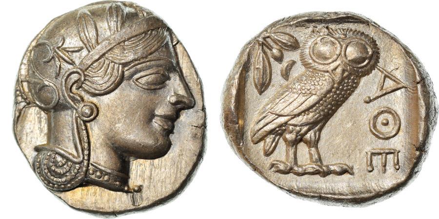 Ancient Coins - Coin, Attica, Athens, Tetradrachm, 490-407 BC, Athens, , Silver