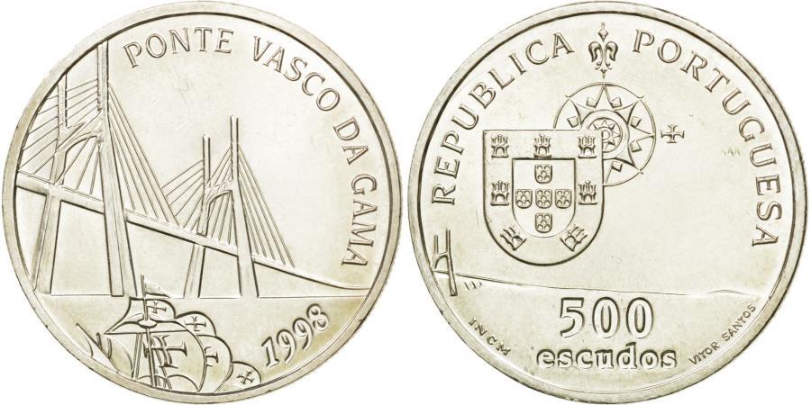 World Coins - Coin, Portugal, 500 Escudos, 1998, , Silver, KM:705