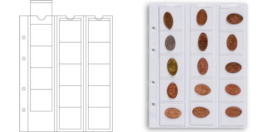 World Coins - Pages, 42, mm, Set of 5, Leuchtturm:338032