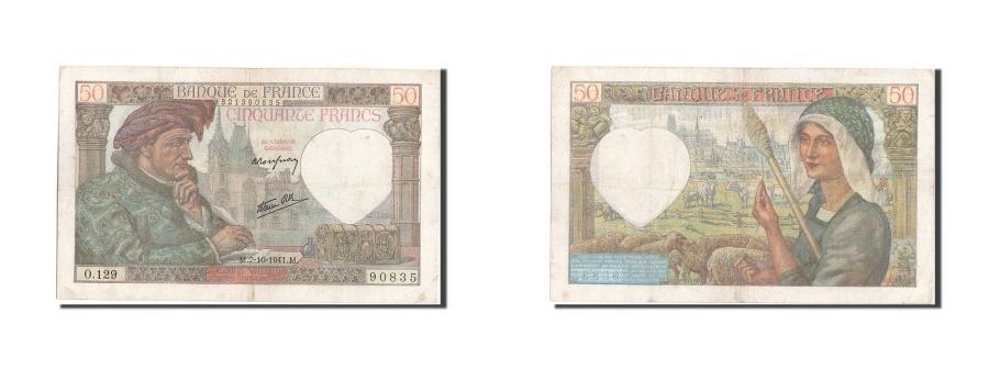 World Coins - France, 50 Francs, 50 F 1940-1942 ''Jacques Coeur'', 1941, KM #93, 1941-10-02,..