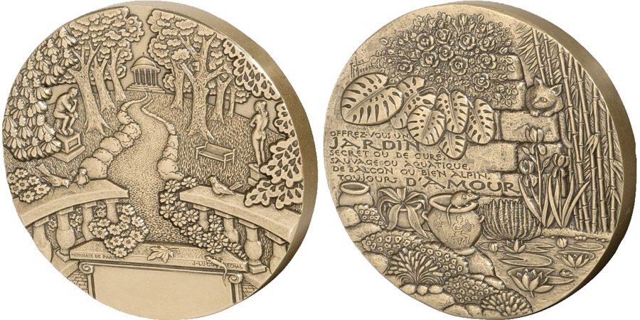 World Coins - FRANCE, Flora, The Fifth Republic, Medal, , Bronze, 86, 440.00