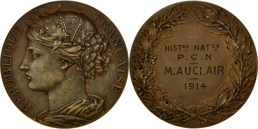 World Coins - FRANCE, Politics, Society, War, French Third Republic, Medal, 1914, ,..