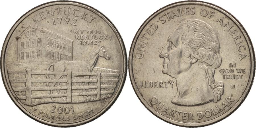 US Coins - United States, Quarter, 2001, U.S. Mint, Denver, , KM 322