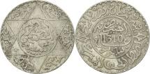 Morocco, Moulay al-Hasan I, 2-1/2 Dirhams, 1892, Paris, EF(40-45), Silver, KM:6