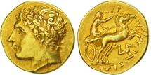 Sicily, Agathokles, Syracuse, Drachm or Hemistater, AU(55-58), Gold, SNG ANS:552