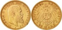 World Coins - German States, Wilhelm II, 20 Mark,1897, Freudenstadt, AU(50-53), KM 634