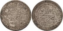 Algeria, ALGIERS, Mahmud II, Budju, 1824, Jaza'ir, EF(40-45), Silver, KM:68