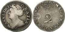 World Coins - Great Britain, Anne, 2 Pence, 1707, EF(40-45), Silver, KM:513