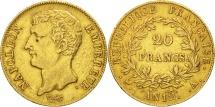 World Coins - France, Napoléon I, 20 Francs, 1804, Paris, EF(40-45), Gold, KM:651