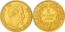 France, 5 Francs, 1859, Paris, EF(40-45), Gold, KM:787.1, Gadoury:1001