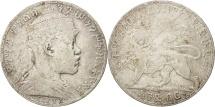 Ethiopia, Menelik II, Birr, 1903, Paris, VF(20-25), Silver, KM:19