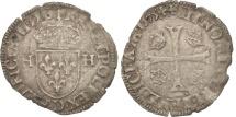 World Coins - France, Douzain with 2H, 1575, Lyons, VF(20-25), Billon, Duplessy:1140