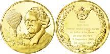World Coins - France, Medal, L'Histoire de la Conquête de l'Air, Nadar, Aviation, MS(65-70)