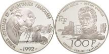 World Coins - France, 100 Francs, 1992, MS(65-70), Silver, KM:1010, Gadoury:C33
