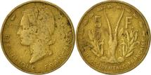 World Coins - French West Africa, 5 Francs, 1956, Paris, VF(20-25), Aluminum-Bronze, KM:5