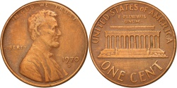 Us Coins - United States, Lincoln Cent, 1970, Denver, , KM:201